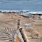 Frigid Falmouth Ocean by Monica M. Scanlan