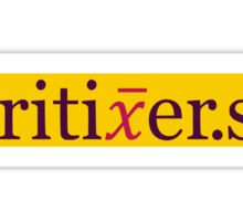 Kritiker.se - yellow Sticker