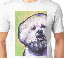 Bichon frise Bright colorful pop dog art Unisex T-Shirt