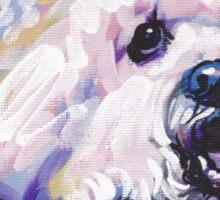 Bichon frise Bright colorful pop dog art Sticker