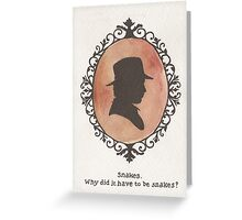 Indiana Jones Cameo Greeting Card