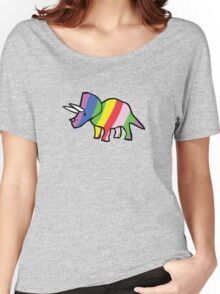 Rainbow Triceratops Women's Relaxed Fit T-Shirt