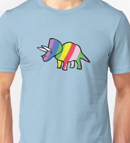 Rainbow Triceratops Unisex T-Shirt