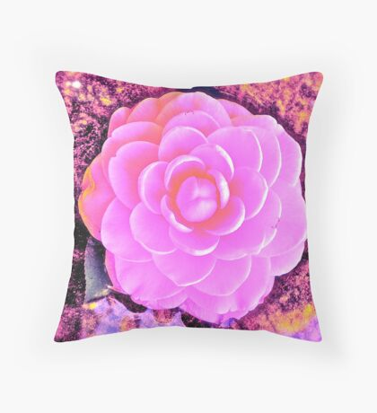 The Enhanced Camellia Throw Pillow