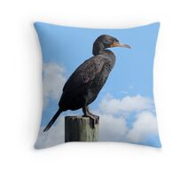 Proud Cormorant Throw Pillow