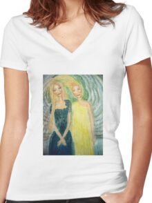 lessons in humility Women's Fitted V-Neck T-Shirt