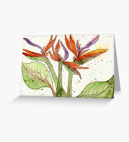 Birds-of-Paradise Greeting Card