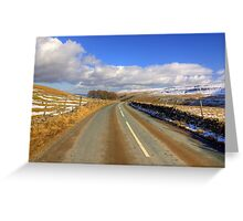 The View from the Kettlewell Road. Greeting Card