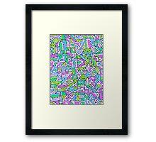 Labyrinth simplified Framed Print