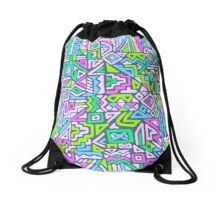 Labyrinth simplified Drawstring Bag