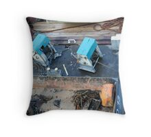 Work Boat Tools Throw Pillow