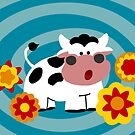 Psychedelic Cow by Sonia Pascual