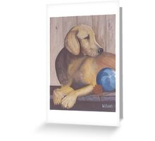 Blondie the Yellow Lab Greeting Card