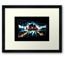 Back to the Future-Time travel Framed Print