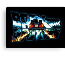 Back to the Future-Time travel Canvas Print
