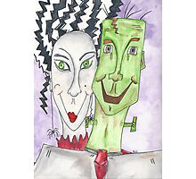 Mr. and Mrs. Frankenstein Photographic Print
