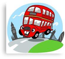Funny London bus Canvas Print