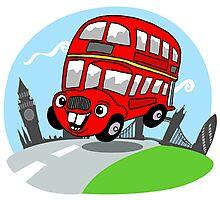 Funny London bus Photographic Print