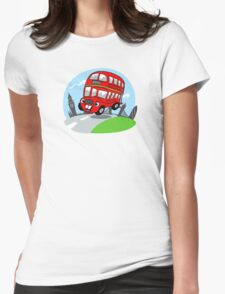 Funny London bus Womens Fitted T-Shirt