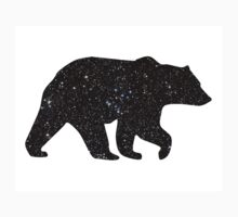 Bear silhouette, starry night Kids Tee