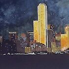 Dallas Texas at night by Don Williams