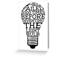 Inspired by Thomas Edison Greeting Card