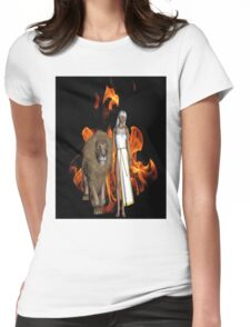Walk of Fire Womens Fitted T-Shirt