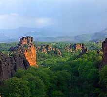 Panoview of Belogradchik rocks, nature phenomenon by mountphoto