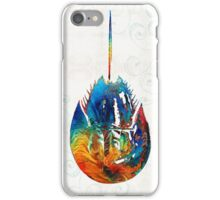 Colorful Horseshoe Crab Art by Sharon Cummings iPhone Case/Skin