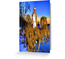 Lions in Winter Greeting Card