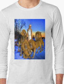 Lions in Winter Long Sleeve T-Shirt