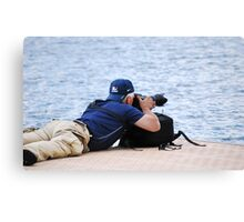 When Laying Down On The Job Is Okay Canvas Print