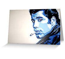 Grease is the word - John Travolta in pop art by artist Debbie Boyle db artstudio Greeting Card