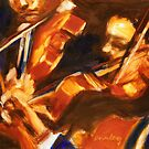 Violinists by dornberg