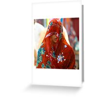 Beauty behind the Red Veil  Greeting Card