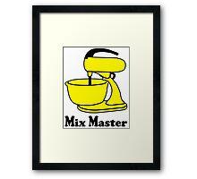 Mix master Framed Print