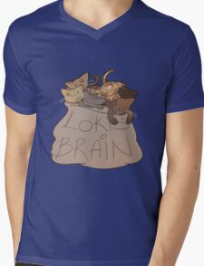 Loki's Brain Mens V-Neck T-Shirt
