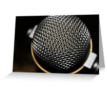 Step up to the mic. Greeting Card