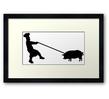 Chef and pig Framed Print