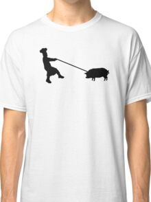 Chef and pig Classic T-Shirt
