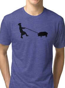 Chef and pig Tri-blend T-Shirt