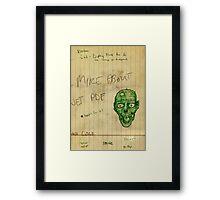 Work Doodle of Death! Framed Print