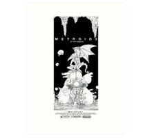 Metroid 3 - Black & White Art Print
