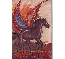Haiti's Winged Stallion Photographic Print