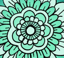 Mandala: Teal/Blue  Sticker