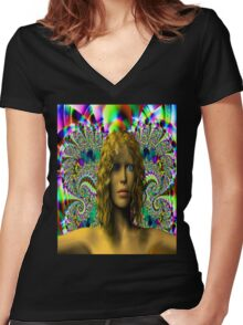 The Mystery of Chaos Women's Fitted V-Neck T-Shirt