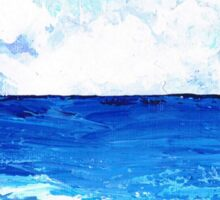 Seawater and clouds Sticker
