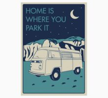 VW Bay Window Bus - Home Is Where You Park It One Piece - Long Sleeve