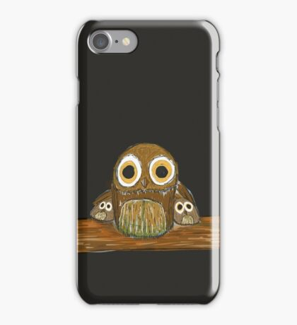 Owl Protecting Owlets iPhone Case/Skin