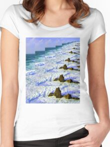 INFINITY SEA Women's Fitted Scoop T-Shirt